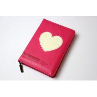 045zti Библия цвет малиновый с сердцем (11455)