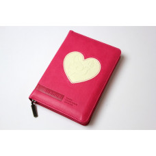 045zti Библия малиновый с сердцем (11455)