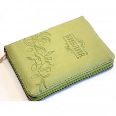 045zti Библия зеленая с оливками (11454)