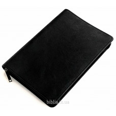 Твердая обложка №7 (8007) черная, бархатистая структура, для Библии