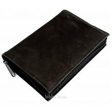 Обложка на Библию 043 (8016) кожа нубук коричневая