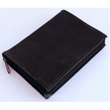 Обложка на Библию 053 (8032) кожа нубук коричневая