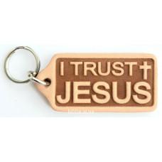 "Брелок кожаный ""I trust Jesus"" (BR 210)"