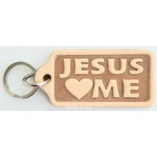 """Брелок кожаный """"Jesus Loves Me"""" (BR 25)"""