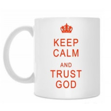 Кружка: Keep calm and trust God