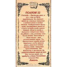 Соломенное панно: Псалом 22 (0032)
